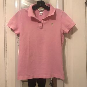 Lilly Pulitzer pink polo
